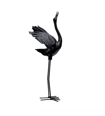 Bilde av Tranefugl sort dekorasjon