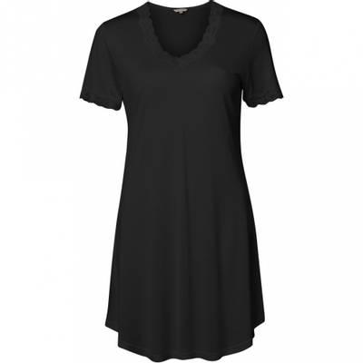 Bilde av Nattkjole med korte ermer silke sort