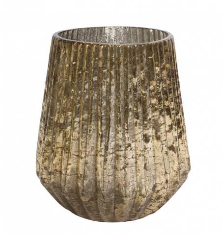 Bilde av Oleana lyslykt vase gull
