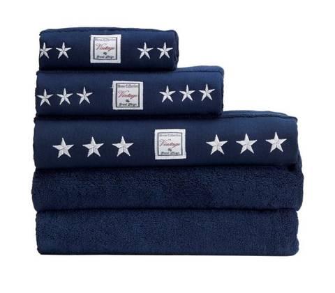 Bilde av Grand vintage towel navy