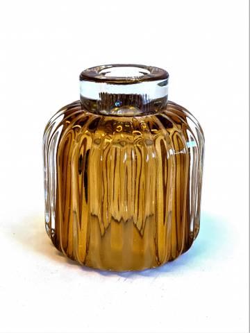 Bilde av Glass lysestake Caramel