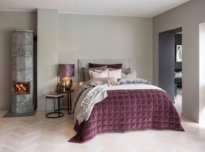 Bilde av Bordeaux sengeteppe burgunder