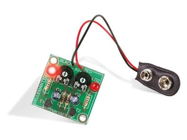 Velleman MK102 FLASHING LEDs, elektronikk byggesett