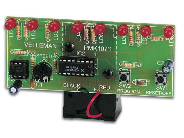 Velleman MK107 LED RUNNING LIGHT, elektronikk byggesett