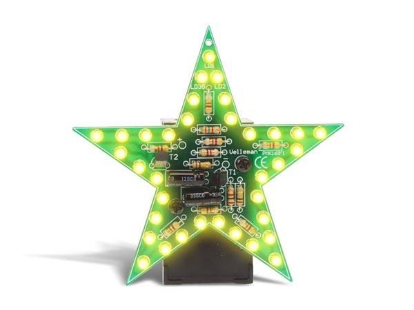 Velleman MK169Y, Blinkende stjerne gul,  elektronikk byggesett