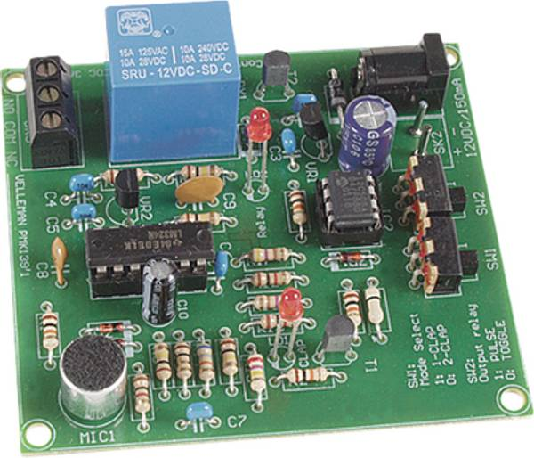 Velleman MK139, Lydstyrt klapp-bryter, elektronikk byggesett