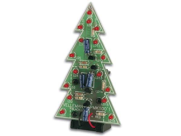 Velleman MK130, 3D blinkende juletre, elektronikk byggesett
