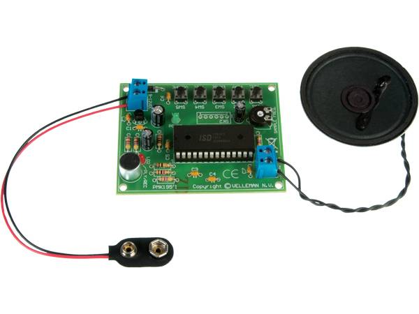 Velleman MK195,  VOICE RECORDING/PLAYBACK MODULED, elektronikk-b