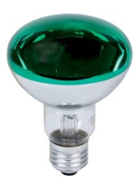 Grønn farget lyspære, Vanlig E-27 60W type R80