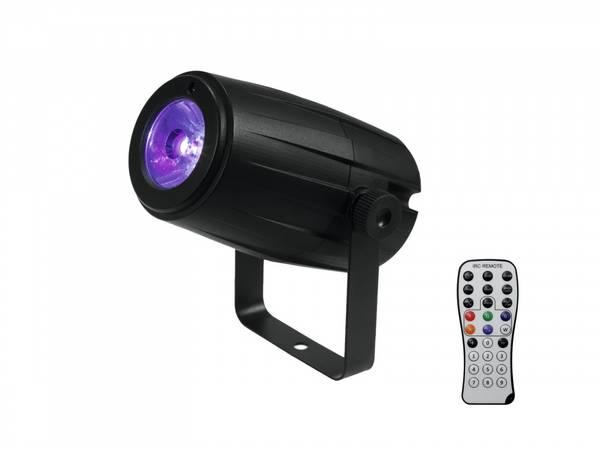 40cm speilkulepakke, 2 x LED RGBW lamper m fjernkontroll