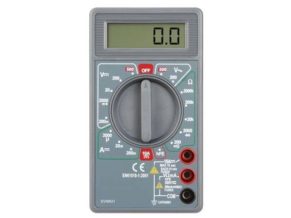 Multimeter 3 1/2 DIGIT DMM, 17 RANGES, 10A, TRANSISTOR TEST