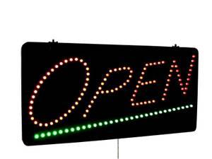 Bilde av LED OPEN Lysskilt med