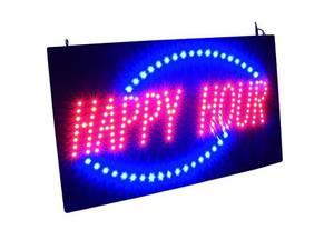 Bilde av LED HAPPY HOUR skilt