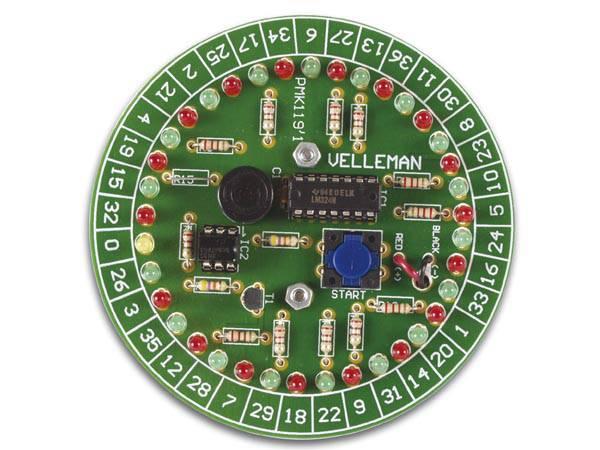Velleman MK119, Rulett, elektronikk byggesett. Roulette kit.