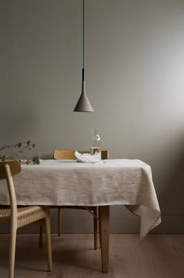 350cm Tablecloth Light Brown Norwegian Forest