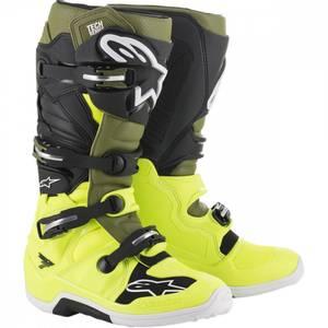 Bilde av Alpinestars Tech 7, gul/grønn/svart