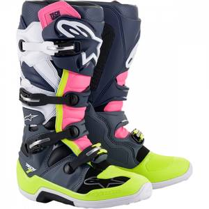 Bilde av Alpinestars Tech 7, svart/blå/rosa