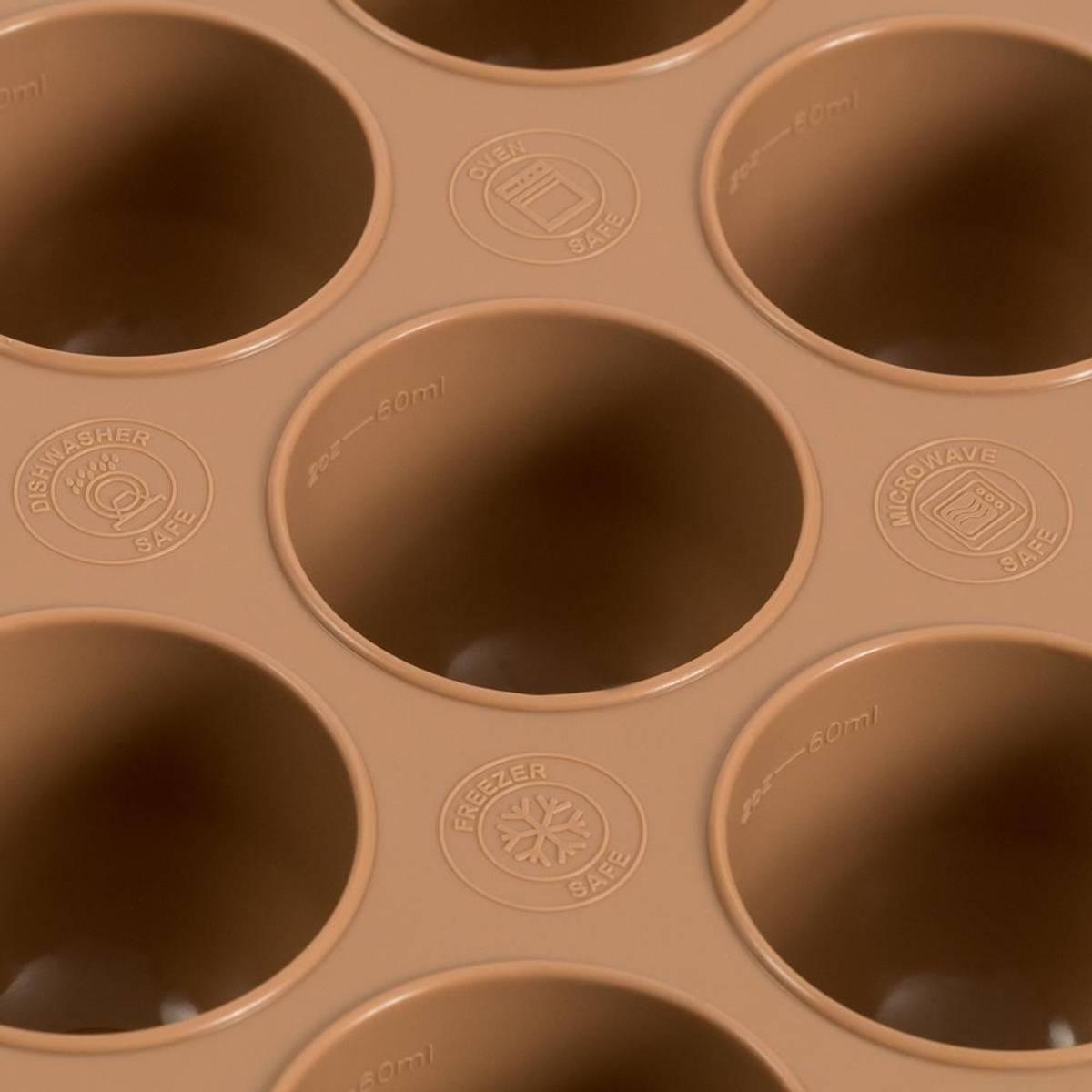 Fryse/stekeform i silikon - Hasselnøtt