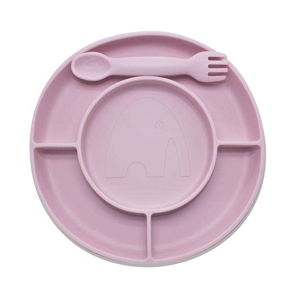 Bilde av ELLI Spisefat + kombinert gaffel/skje - pastel