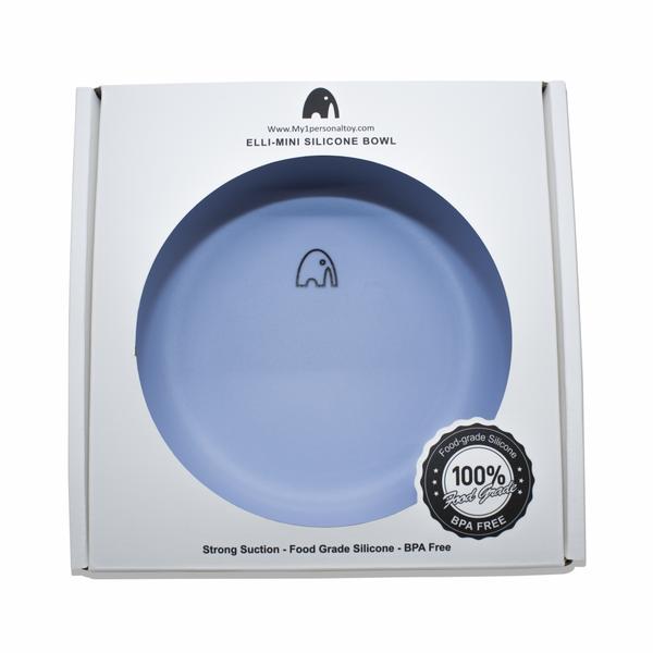 Bilde av Barnets navn på tallerkenen - Blå