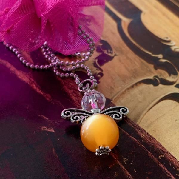 HVERDAGSENGEL, lys orange