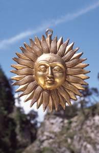 Bilde av Sol i messing - brass sun