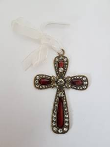 Bilde av Kors - rødt  med skinnende