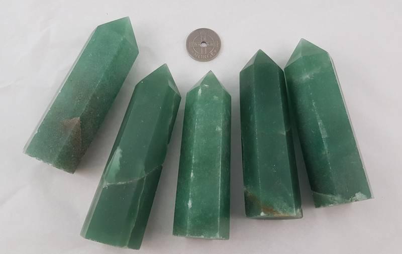 Obelisk Aventurin Grønn ca 9-10cm