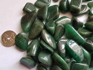 Bilde av aventurin - mørk grønn S
