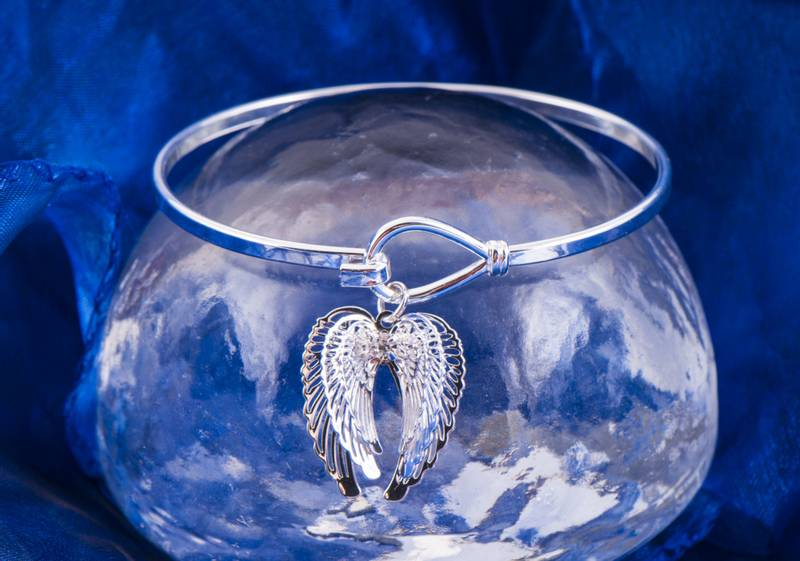 Guardian angel wings bangle - Armbånd Skyttsengel
