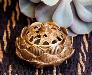 Bilde av Lotus Incense Burner, messing