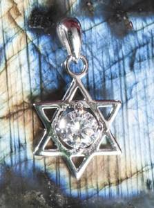 Bilde av Hexagram with crystal stone