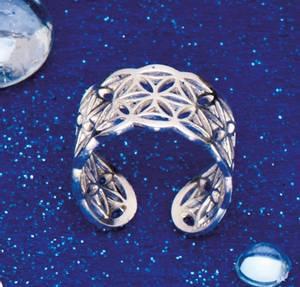 Bilde av Flower of Life ring sølv