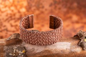Bilde av Kobberarmbånd Braided copper