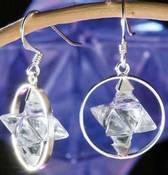 Krystall øredobber