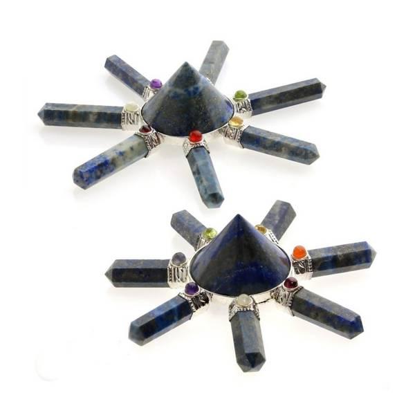 Chi Generator (Reiki) Lapis Lazuli og Chakrakrystaller