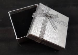 Bilde av Gaveeske sølv 60x60x25mm