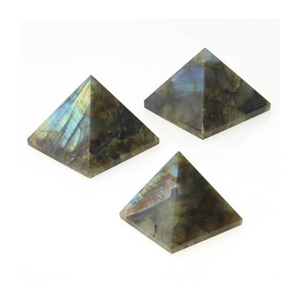 Labradoritt Pyramide 40x40mm