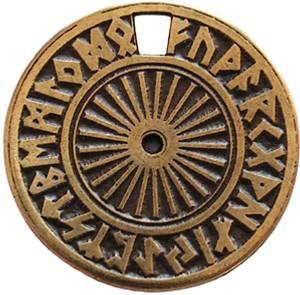 Bilde av Magisk Runesirkel messing