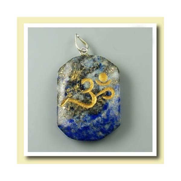 Anheng Lapis Lazuli med Ohm symbol