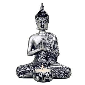 Bilde av Buddha sølvfarget med