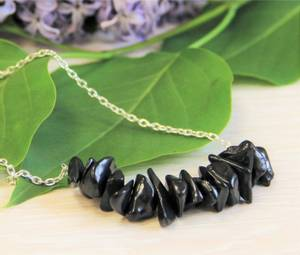 Bilde av Shungite necklace on a chain
