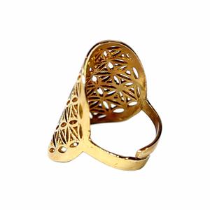 Bilde av Ring Livets Blomst - Brass