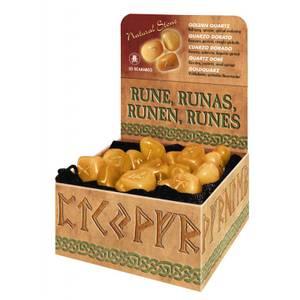 Bilde av Runer - Golden Quartz Runes