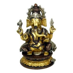 Bilde av Ganesh messing tofarget 26cm