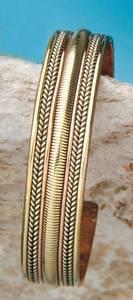 Bilde av Kobberarmbånd med flettede