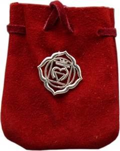 Bilde av Krystallpose Chakrasymbol rød