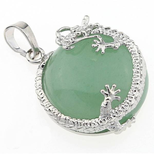 Anheng Aventurin Grønn Dragon Pendant