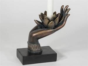 Bilde av Buddha Hand Lotus lysestake