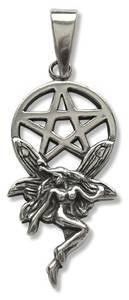 Bilde av Alv med pentagram sølv-anheng